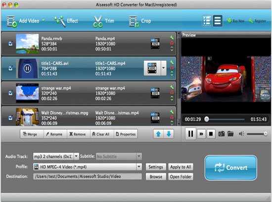 How to convert MTS files to iPhone on Mac Hd-video-converter